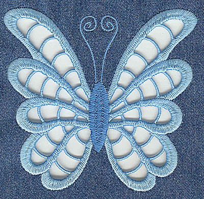 Embroidery Design: Cutwork Butterfly G large 4.95w X 4.61h