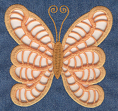 Embroidery Design: Cutwork Butterfly I large 4.95w X 4.71h
