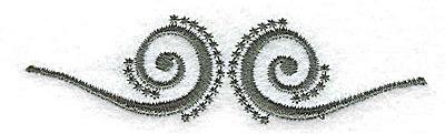 Embroidery Design: Swirl design 3.44w X 0.93h