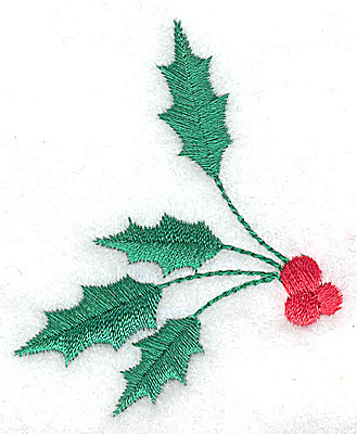 Embroidery Design: Holly and berries large 2.22w X 2.75h