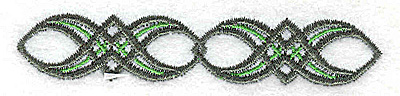 Embroidery Design: Patterned design 3.36w X 0.66h