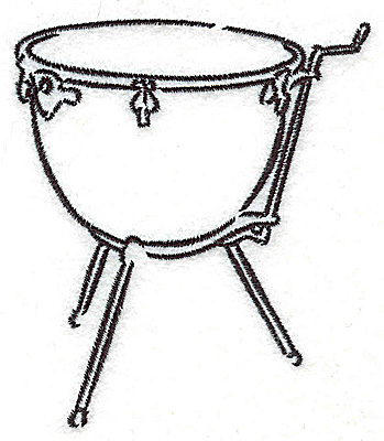 Embroidery Design: Kettle drum3.02w X 3.50h
