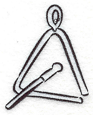 Embroidery Design: Triangle percussion instrument 2.36w X 3.01h