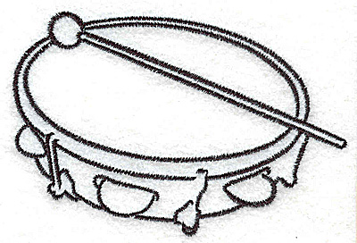 Embroidery Design: Tambourine  3.51w X 2.35h