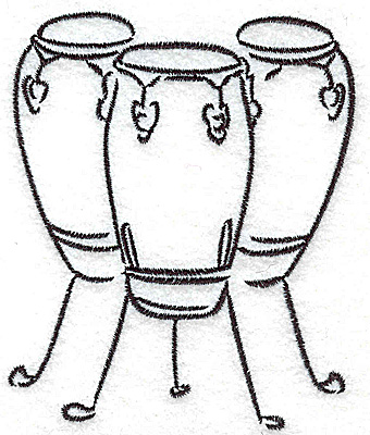 Embroidery Design: Bongo drums 3.15w X 3.82h