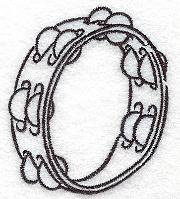 Embroidery Design: Tambourine  2.56w X 3.01h