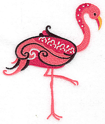 Embroidery Design: Flamingo A large 4.00w X 4.84h