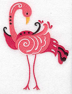 Embroidery Design: Flamingo B large 3.67w X 4.87h