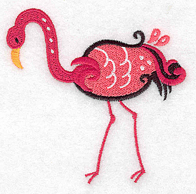 Embroidery Design: Flamingo D small 3.51w X 3.41h