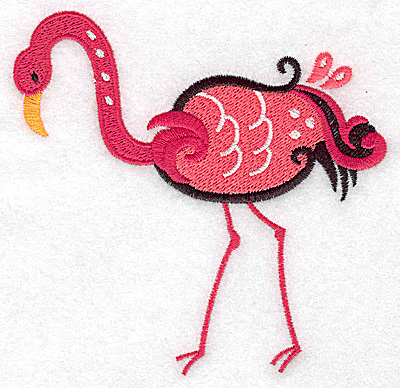 Embroidery Design: Flamingo D large 4.56w X 4.43h