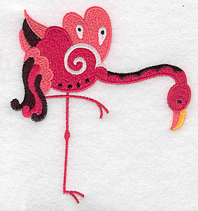 Embroidery Design: Flamingo E large 3.87w X 4.60h