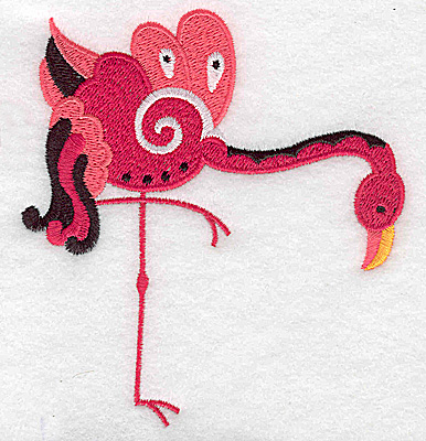 Embroidery Design: Flamingo F large 4.17w X 4.52h