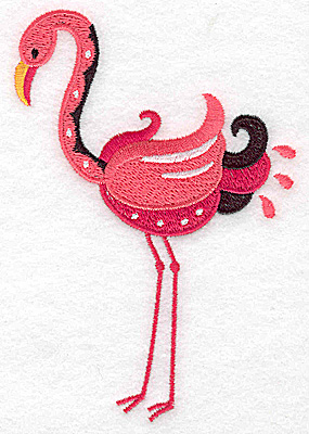 Embroidery Design: Flamingo G large 3.43w X 4.95h