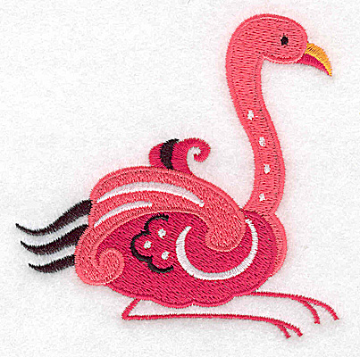 Embroidery Design: Flamingo H large 3.89w X 3.88h