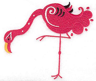 Embroidery Design: Flamingo I large 4.73w X 4.29h