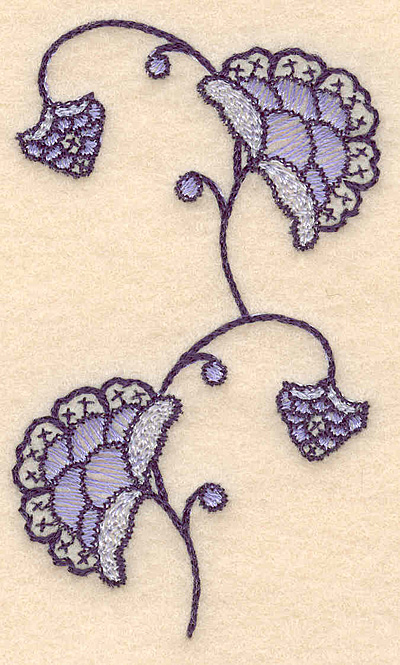 """Embroidery Design: Colonial Design 101  3.50"""" x 2.07"""""""