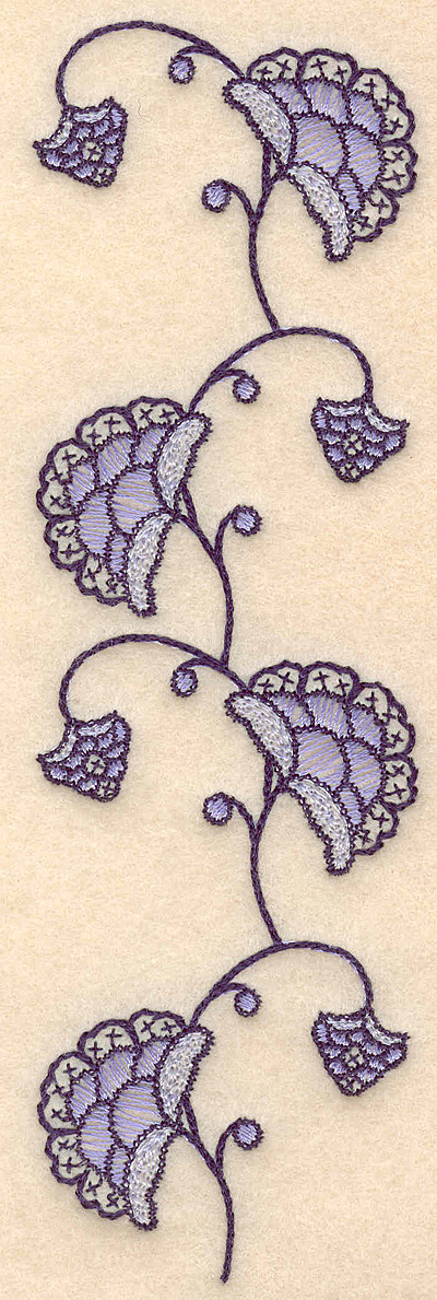"Embroidery Design: Colonial Design 102  6.80"" x 2.07"""