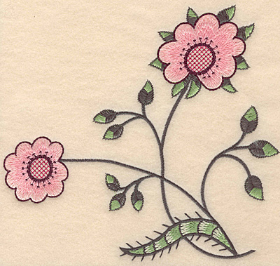 "Embroidery Design: Colonial Design 105 Large7.00"" x 7.45"""