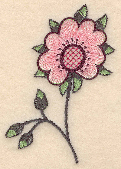 "Embroidery Design: Colonial Design 106  3.63"" x 2.52"""