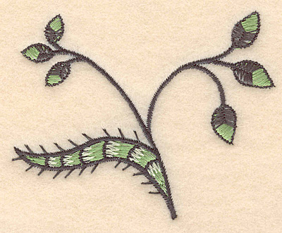 "Embroidery Design: Colonial Design 107 Leaves  2.88"" x 3.56"""