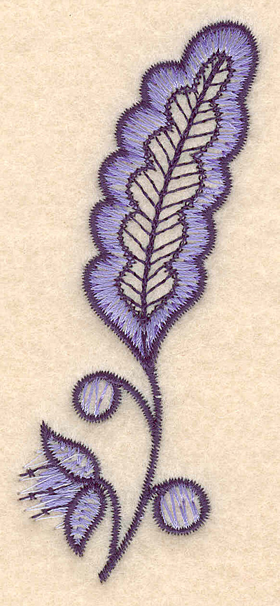 "Embroidery Design: Colonial Design 114 3.90"" x 1.81"""