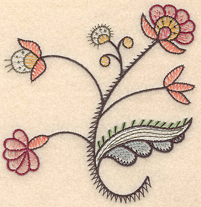 "Embroidery Design: Colonial Design 120 Small  5.06"" x 4.89"""