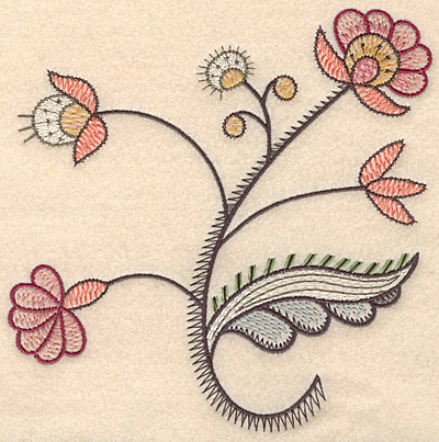 "Embroidery Design: Colonial Design 121 Large  7.07"" x 6.84"""