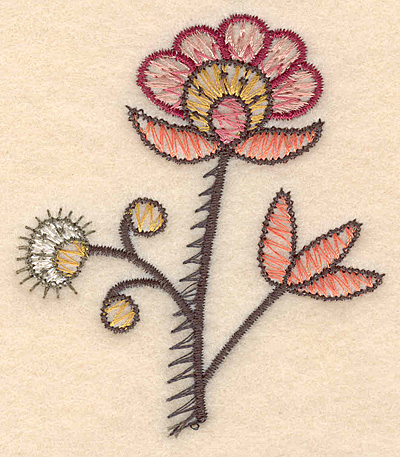 "Embroidery Design: Colonial Design 122 3.16"" x 2.76"""