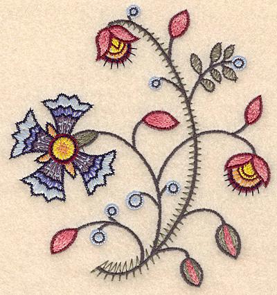 """Embroidery Design: Colonial Design 123 Samll  5.33"""" x 4.97"""""""