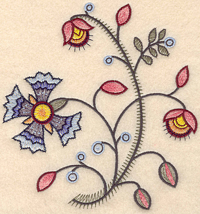 "Embroidery Design: Colonial Design 124 Large  7.46"" x 6.95"""