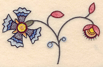 """Embroidery Design: Colonial Design 125 3.08"""" x 4.97"""""""