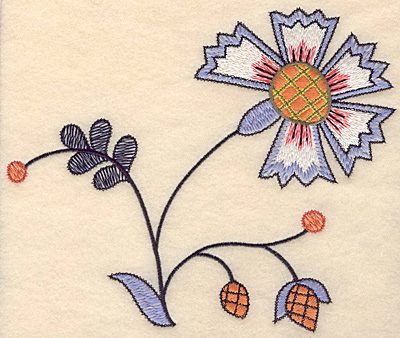 """Embroidery Design: Colonial Design 127 Large  6.82"""" x 8.08"""""""