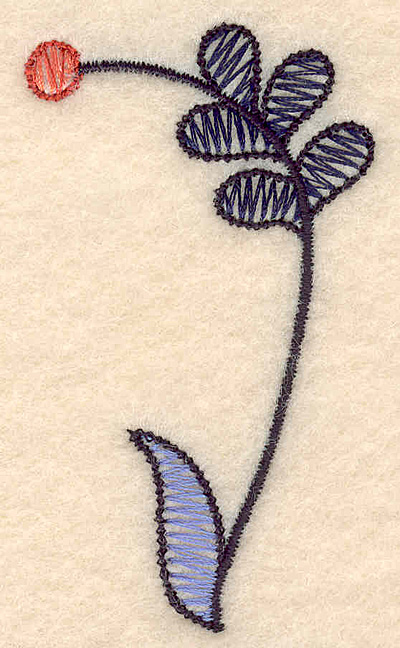 """Embroidery Design: Colonial Design 131  2.55"""" x 1.61"""""""