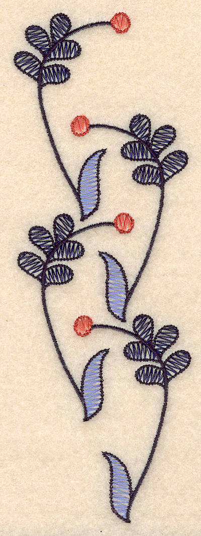 """Embroidery Design: Colonial Design 132 6.99"""" x 2.37"""""""
