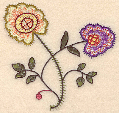 "Embroidery Design: Colonial Design 137 Small  5.00"" x 5.26"""