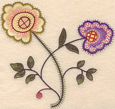 "Embroidery Design: Colonial Design 138 Large 7.01"" x 7.36"""