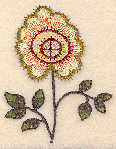 """Embroidery Design: Colonial Design 140  3.82"""" x 2.99"""""""