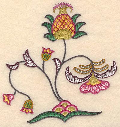 """Embroidery Design: Colonial Design 141 Samll  5.22"""" x 4.95"""""""