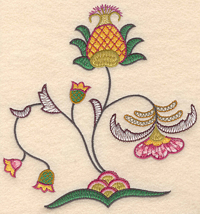 "Embroidery Design: Colonial Design 142 Large7.92"" x 6.93"""