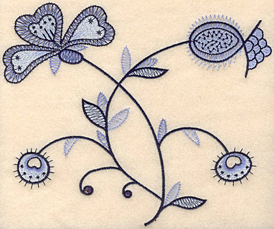 """Embroidery Design: Colonial Design 147 Large 6.89"""" x 8.27"""""""