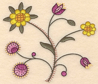 "Embroidery Design: Colonial Design 149 Small 4.99"" x 5.71"""