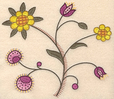 "Embroidery Design: Colonial Design 150 6.98"" x 8.00"""