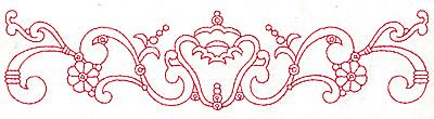 Embroidery Design: Redwork border design E large  9.64w X 2.31h