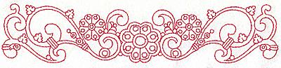 Embroidery Design: Redwork border design G large  9.76w X 2.10h
