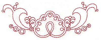 Embroidery Design: Redwork border design J small 4.79w X 1.78h