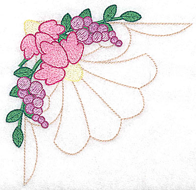 Embroidery Design: Echinacea and berries large 4.97w X 4.93h