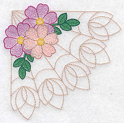 Embroidery Design: Blossom trio large 4.96w X 4.94h