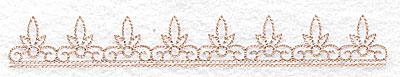Embroidery Design: Fleur de lys design large 6.98w X 0.94h