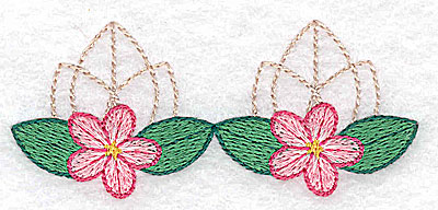 Embroidery Design: Tiny floral design small 3.46w X 1.50h