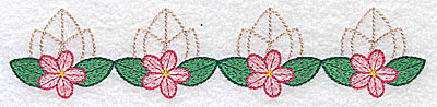 Embroidery Design: Tiny floral design large 6.91w X 1.50h